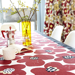 Accessorise your kitchen with printed fabric