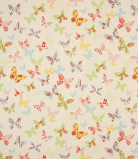 Colourful butterfly fabric