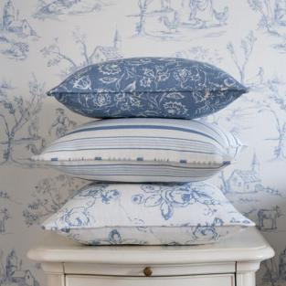 Using toile de jouy fabric