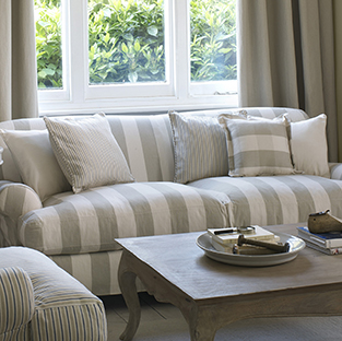 Use ticking fabric for upholstery