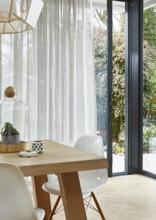 Use sheer fabric for privacy