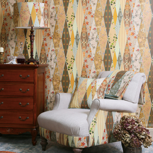Mustard Yellow Fabric in a Bohemian Style Interior