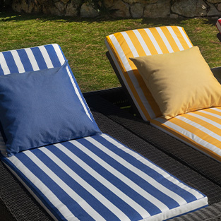 What should I do with my outdoor fabrics in autumn?