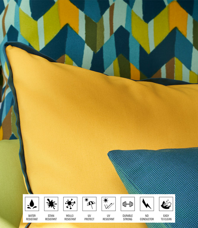 Penzance Outdoor Fabric / Azul Claro