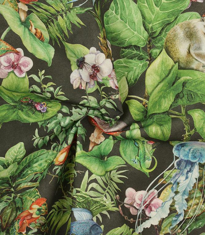 Full Roll of Noir Madworld Outdoor  Fabric