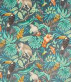 Rainforest Velvet Fabric / Bluestone