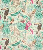 Rainforest Velvet Fabric / Aqua