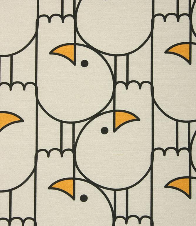 Naughty Gulls Outdoor Fabric / Grey