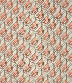 Prancing Prawns Outdoor / Coral Fabric