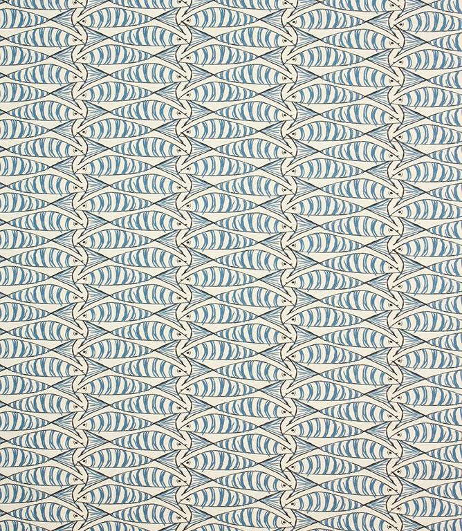 Cornish Sardines Fabric / Indigo