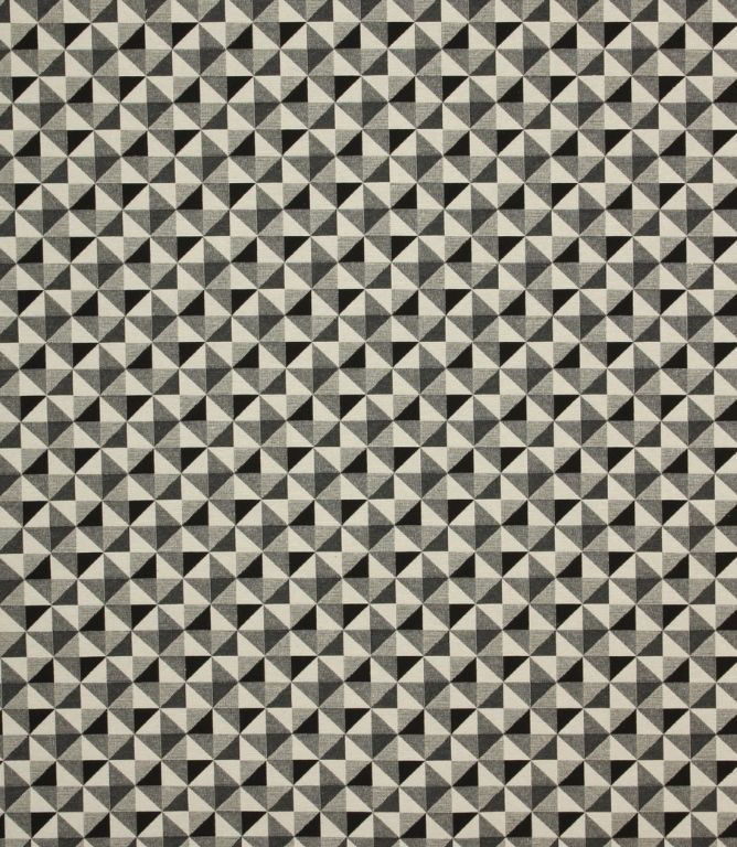 JF Geo Greyscale Fabric / Noir