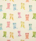 Welly Boots / Cream Fabric