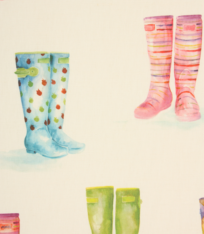 Voyage Decoration Welly Boots Fabric / Cream