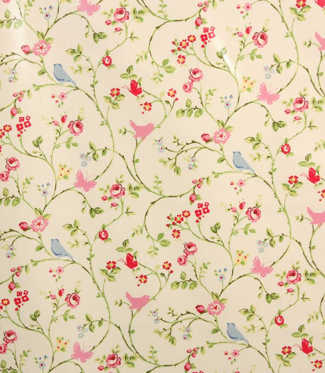 Chintz Pvc Bird Trail Fabric Just Fabrics