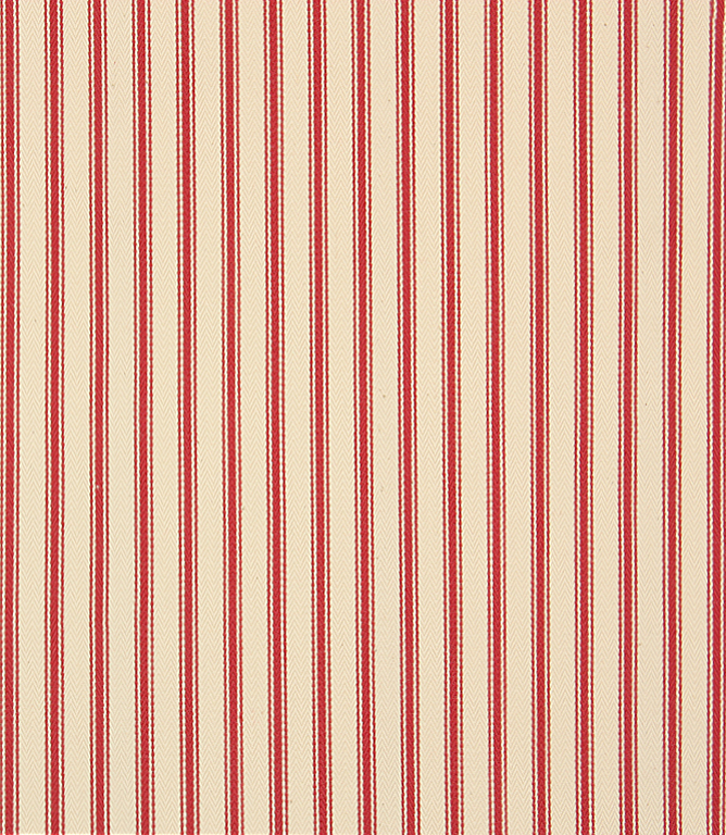 Stella Ticking Fabric / Red