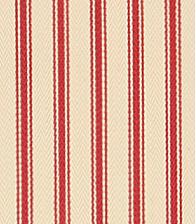 Stella ticking fabric red for Ticking fabric