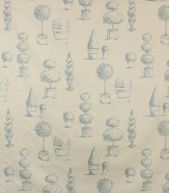 Topiary Fabric / Wedgewood