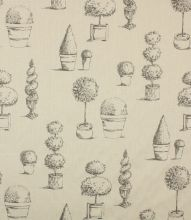 Made to Measure Topiary Fabric / Charcoal