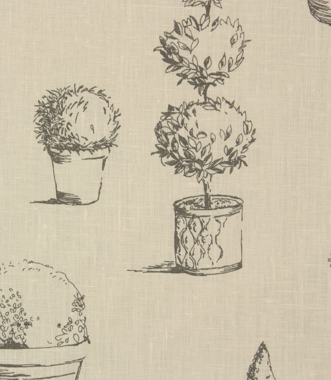 Topiary Fabric / Charcoal
