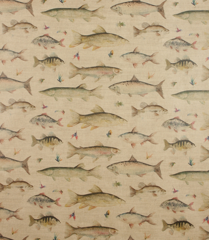 Voyage Decoration PVC River Fish Fabric / Linen | Just Fabrics
