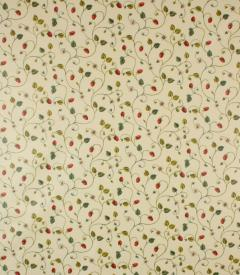 PVC Strawberry Fair Fabric / Red