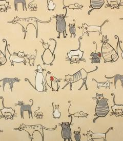 PVC Cat & Mouse Fabric