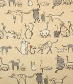 PVC Cat & Mouse / Charcoal Fabric