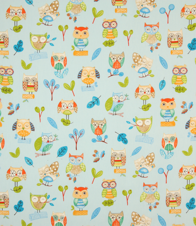 ollie owl fabric watercolour just fabrics. Black Bedroom Furniture Sets. Home Design Ideas