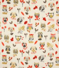 Made to Measure Ollie Owl Fabric / Red