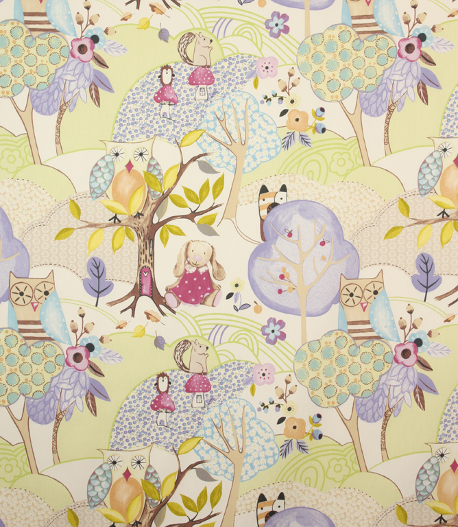 Woodland Friends Fabric Lavender Just Fabrics