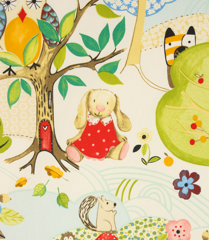 Woodland Friends Fabric / Summer