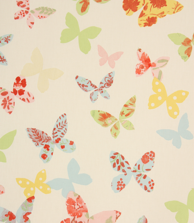 Butterfly Fabric Chintz Just Fabrics