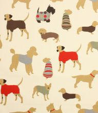 Made to Measure Mans Best Friend Fabric / Cinnamon