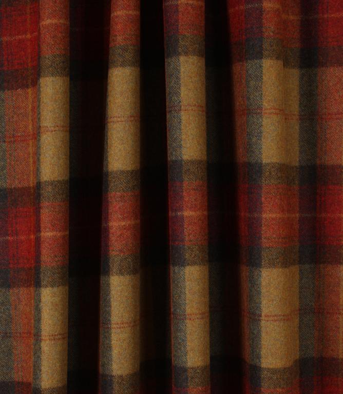 Skye Wool Fabric / Claret