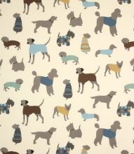 Made to Measure Mans Best Friend Fabric / Duck Egg