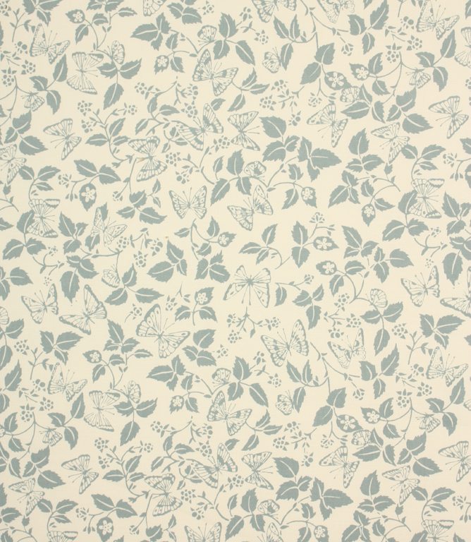 Butterfly Leaf Fabric Duck Egg Just Fabrics
