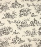 Toile de jouy Fabric / Black