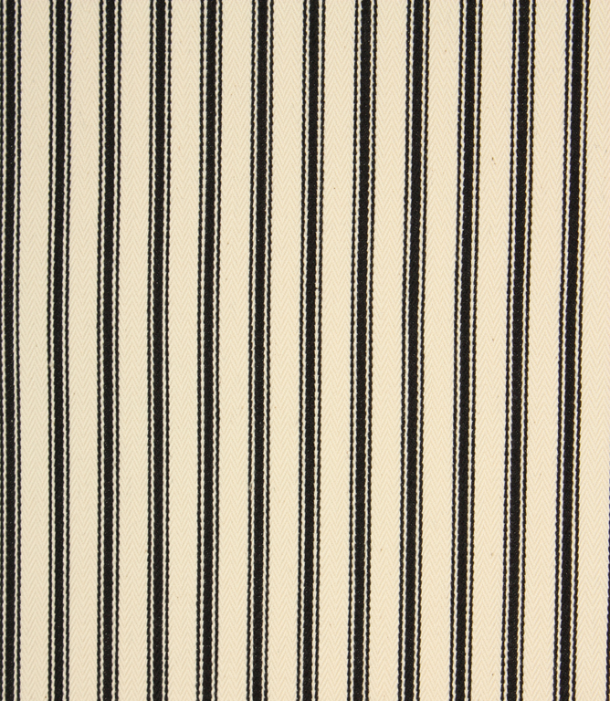 Stella Ticking Fabric / Noir