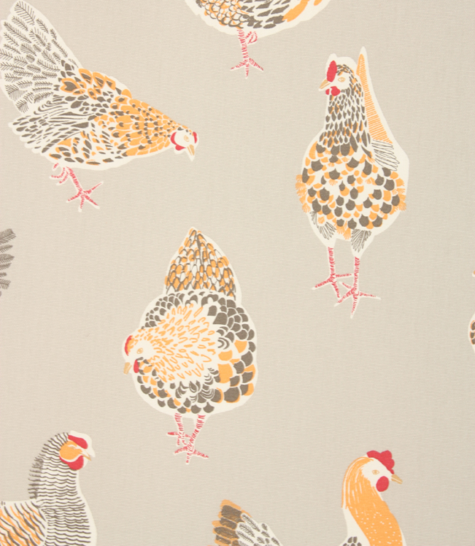 Rooster Clarke Fabric / Taupe