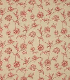 Fulbrook Linen / Red Fabric Remnant