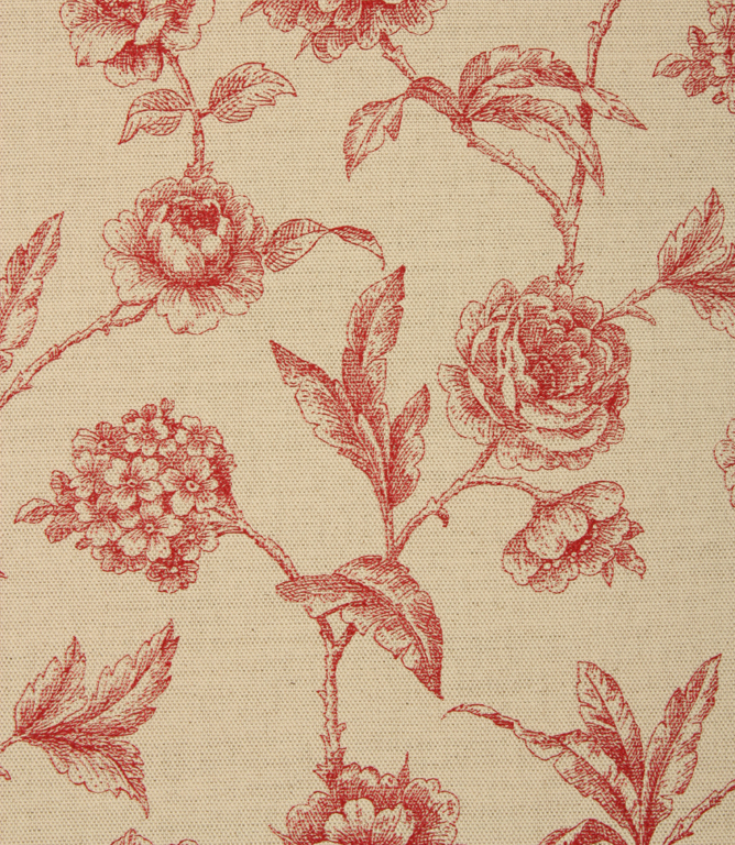 Fulbrook Linen Fabric / Red
