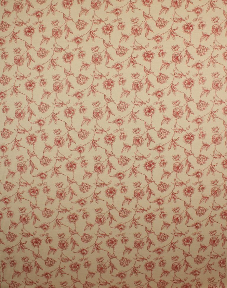 Red Fulbrook Linen Fabric Remnant