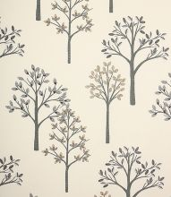 Made to Measure Woodlands Fabric / Charcoal