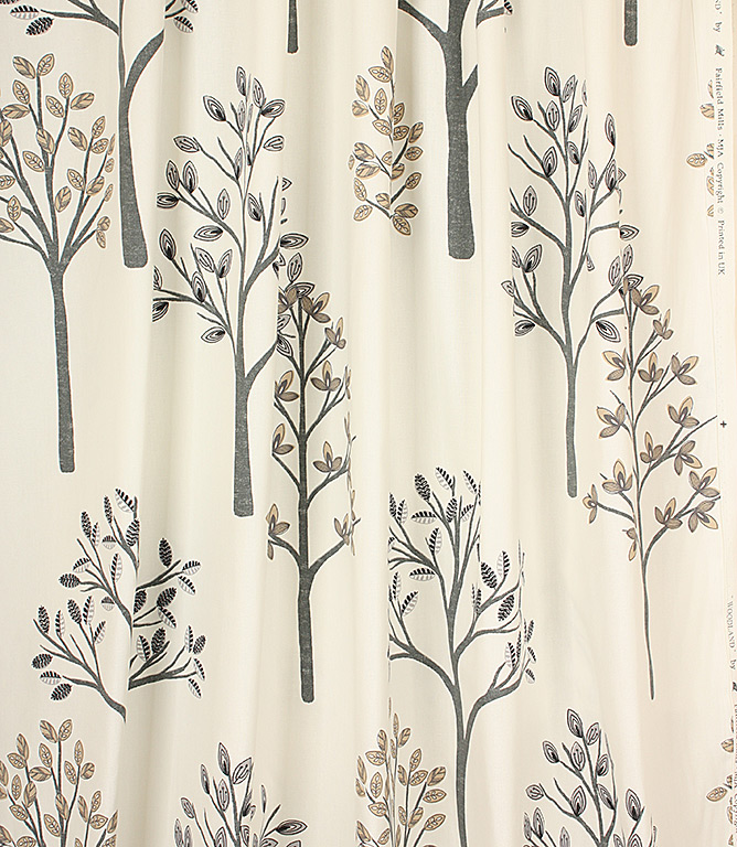 Woodlands Fabric / Charcoal
