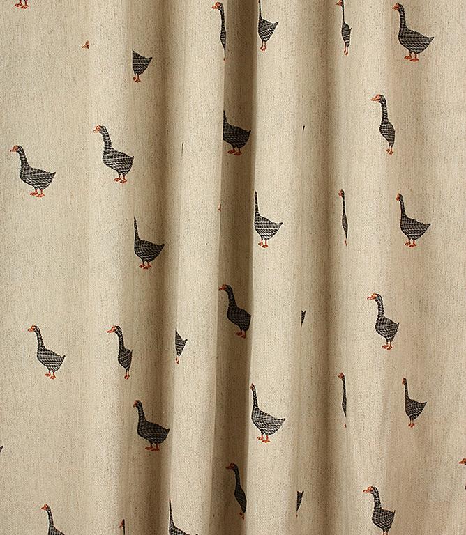 Goose C Fabric Black Just Fabrics
