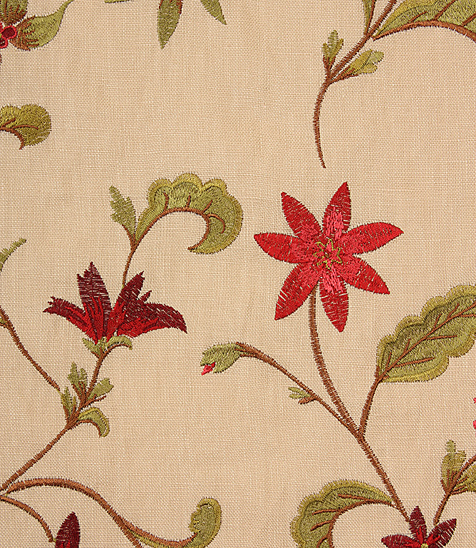 Red Perugia Fabric Remnant