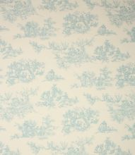 Made to Measure Toile de jouy Fabric / Duck Egg