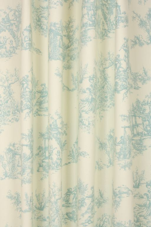 Toile de jouy Fabric / Duck Egg