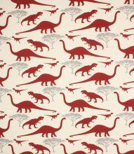 Dinosaurs Fabric Red Just Fabrics