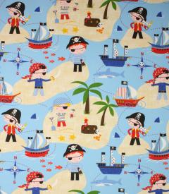 Pirates Life For Me Fabric / Blue
